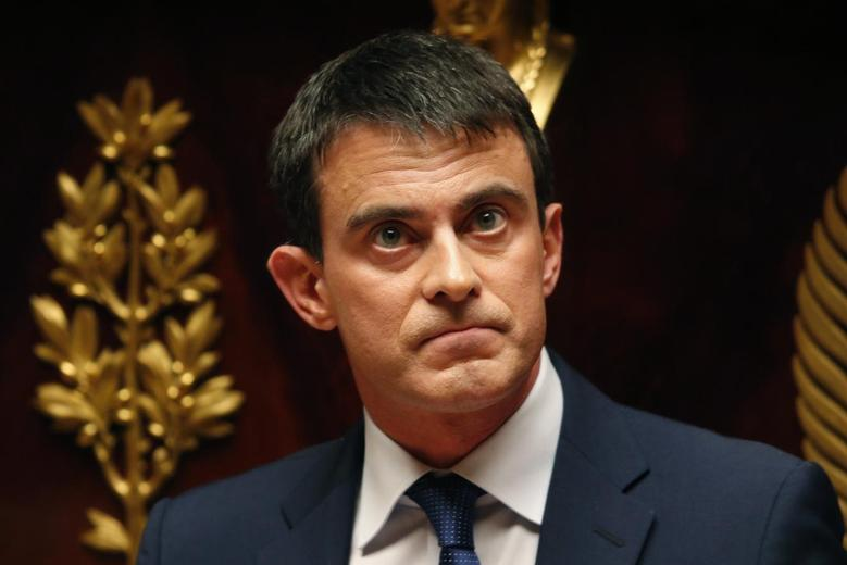 French Prime Minister Manuel Valls delivers a speech to present his 50 billion euro ($69 billion) savings plan ahead of a vote at the national assembly in Paris April 29, 2014. REUTERS/Charles Platiau