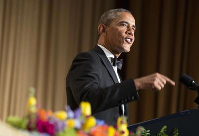Washington gridlock butt of Obama jokes at White House...