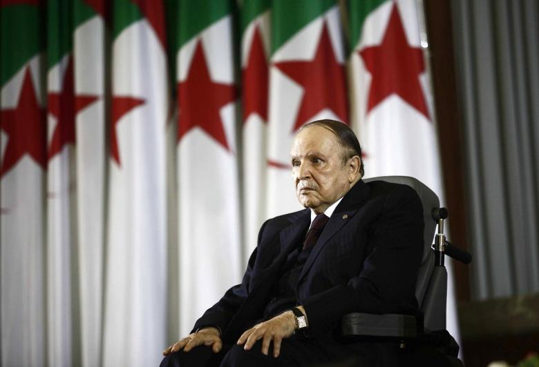 President Abdelaziz Bouteflika looks on during a swearing-in ceremony in Algiers April 28, 2014. REUTERS/Ramzi Boudina