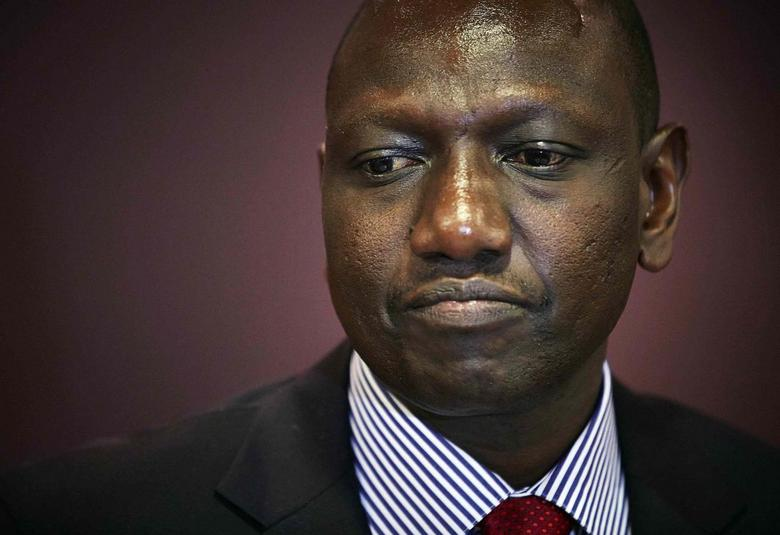 Deputy Kenyan President William Ruto attends a news conference at the Movenpick Hotel in the Hague October 15, 2013. REUTERS/Phil Nijhuis