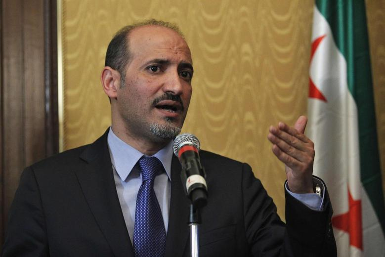 Ahmad Jarba, head of the opposition Syrian National Coalition, speaks during a news conference about chemical weapons in New York, September 27, 2013. REUTERS/Eduardo Munoz
