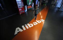 Le groupe de commerce électronique chinois Alibaba Group Holding dit mardi avoir soumis la note d'information relative à son introduction en Bourse aux Etats-Unis pour un montant annoncé d'un milliard de dollars. /Photo prise le 20 juin 2012/REUTERS/Carlos Barria