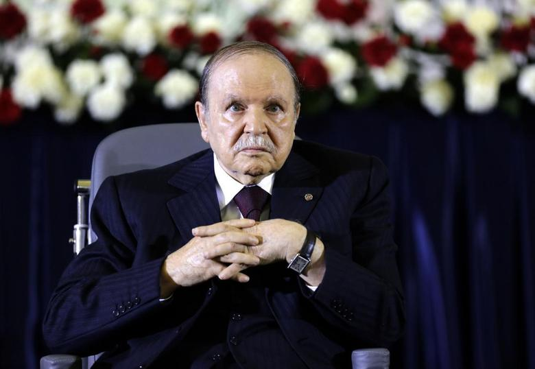 President Abdelaziz Bouteflika looks on during a swearing-in ceremony in Algiers April 28, 2014. REUTERS/Louafi Larbi