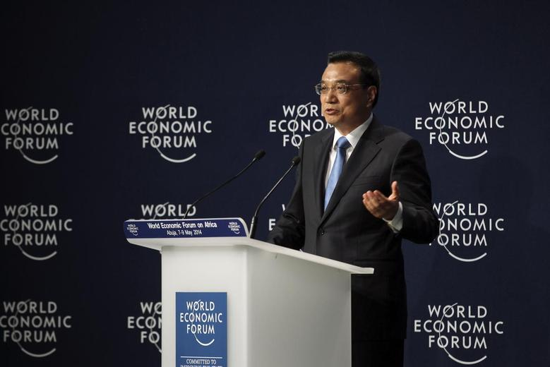 Chinese Premier Li Keqiang speaks at the opening of the World Economic Forum on Africa event in Abuja May 8, 2014. REUTERS/Afolabi Sotunde