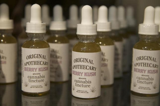Marijuana-based products are seen at the ''Oregon's Finest'' medical marijuana dispensary in Portland, Oregon April 8, 2014. REUTERS/Steve Dipaola