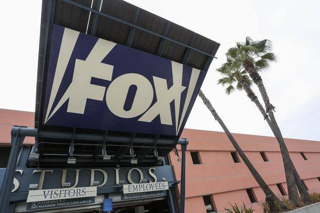 A sign is pictured at a vehicle entrance to Fox Studios in Los Angeles, California February 6, 2014. REUTERS/Jonathan Alcorn