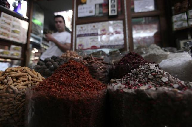 A variety of spices are displayed at a shop at the spices souk in Deira, March 4, 2013. REUTERS/Jumana El Heloueh