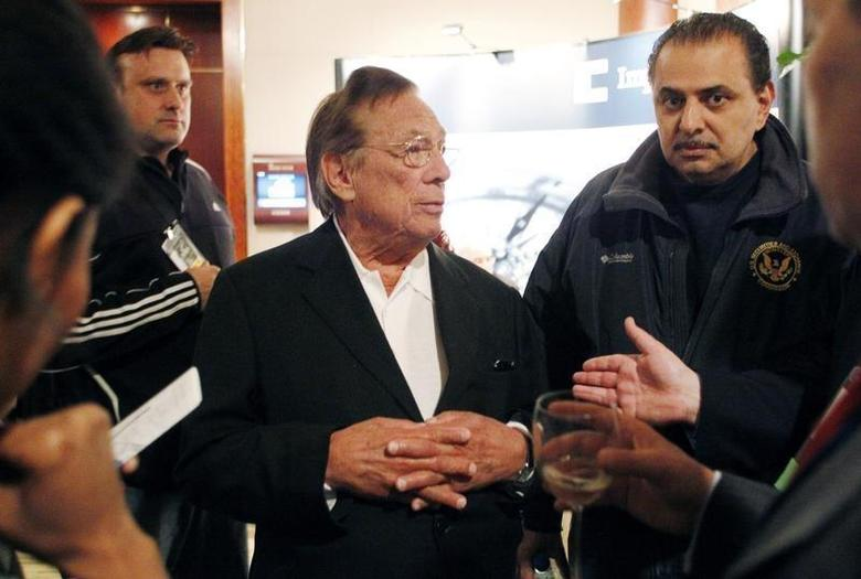 Real estate mogul and Los Angeles Clippers NBA basketball team owner Donald Sterling attends the Milken Institute Global Conference in Beverly Hills, California May 1, 2012. REUTERS/Danny Moloshok