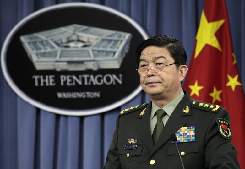 China's Minister of National Defense General Chang Wanquan speaks at news conference following a meeting with U.S. Defense Secretary Chuck Hagel at the Pentagon in Washington August 19, 2013. REUTERS/Yuri Gripas