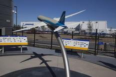 A model of the 787 Dreamliner is seen at the welcome center for South Carolina Boeing in North Charleston, South Carolina December 19, 2013. REUTERS/Randall Hill