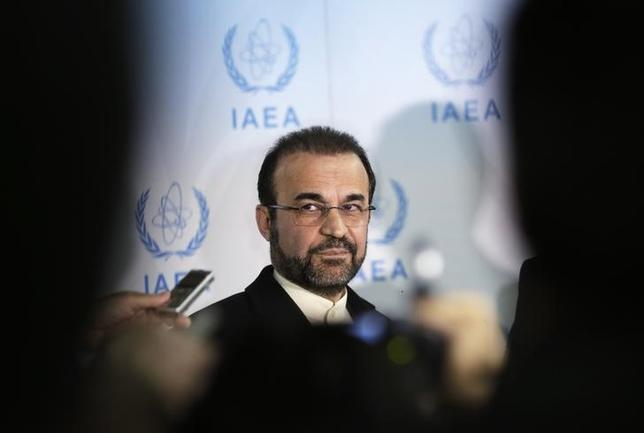 Iran's ambassador to the International Atomic Energy Agency (IAEA) Reza Najafi attends a news conference at the headquarters of the IAEA in Vienna December 11, 2013 file photo.  REUTERS/Leonhard Foeger