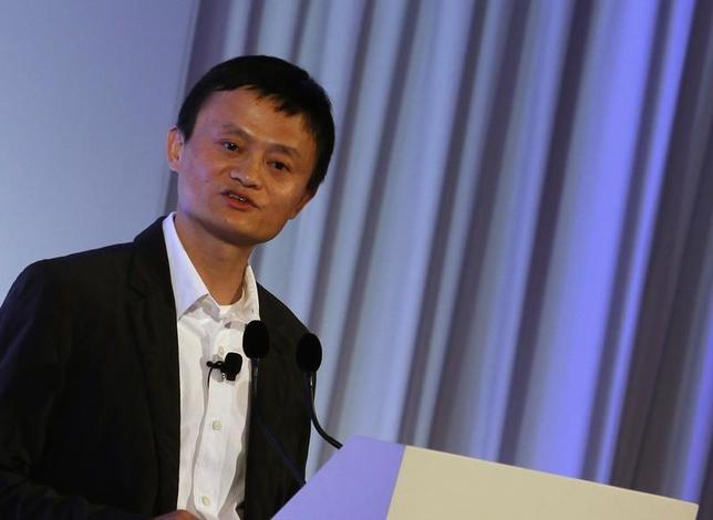 Jack Ma, the chairman of China's largest e-commerce firm Alibaba Group, addresses a conference in Hong Kong March 20, 2013. REUTERS/Bobby Yip