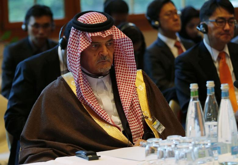 Saudi Arabia's Foreign Minister Prince Saud al-Faisal attends the opening of the Geneva-2 peace conference in Montreux January 22, 2014. REUTERS/ Jamal Saidi