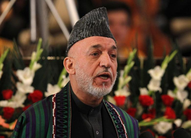 Afghanistan's President Hamid Karzai speaks during celebrations to mark Nawroz, the Persian New Year, in Kabul March 27, 2014. REUTERS/Omar Sobhani