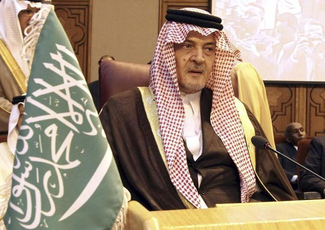 Saudi Arabia's Foreign Minister Prince Saud al-Faisal attends the opening of an Arab foreign ministers emergency meeting to discuss the Syrian crisis and President Bashar al-Assad's regime, at the Arab League headquarters in Cairo, March 9, 2014. REUTERS/Stringer