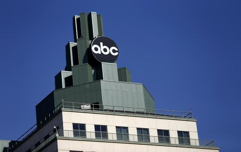 A logo for ABC is pictured atop a building in Burbank, California February 5, 2014. REUTERS/Mario Anzuoni
