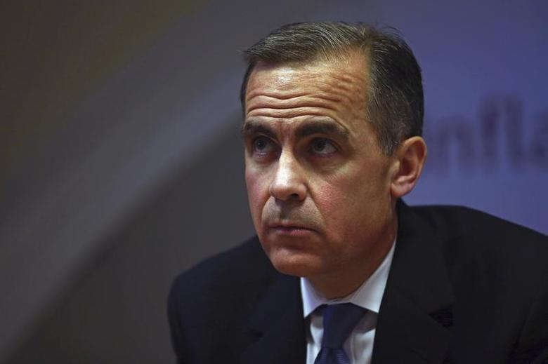 Bank of England governor Mark Carney leads the bank's quarterly inflation report news conference at the Bank of England in London February 12, 2014. REUTERS/Dan Kitwood/pool