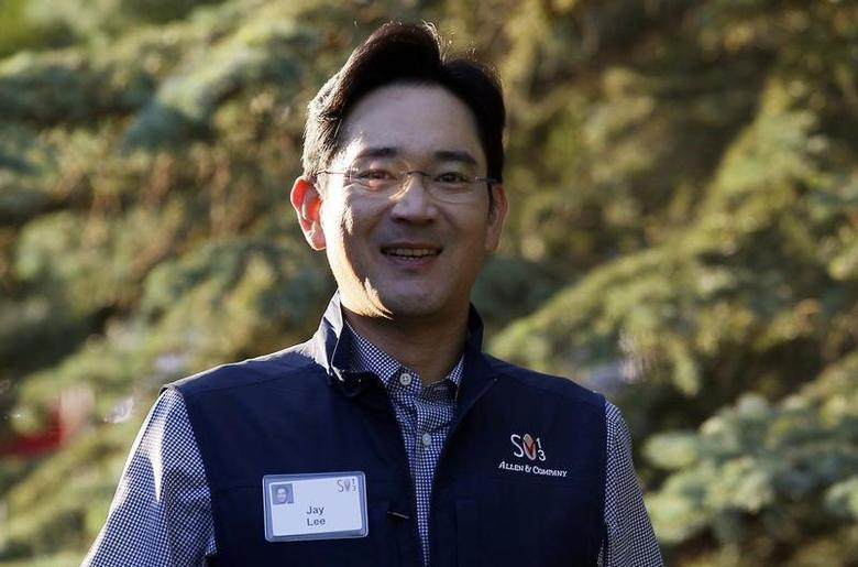 Jay Lee, Samsung Electronics vice chairman, arrives for the first session of annual the Allen and Co. conference at the Sun Valley, Idaho Resort July 10, 2013. REUTERS/Rick Wilking