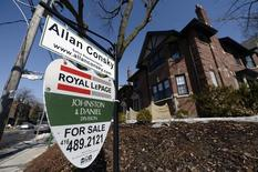 A home for sale is seen in Toronto, March 11, 2014. REUTERS/Aaron Harris