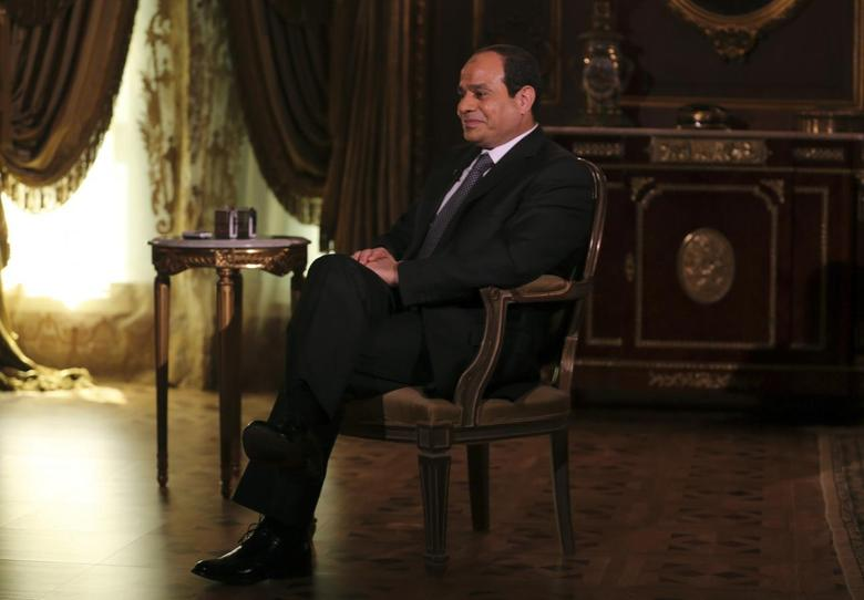 Egypt's presidential candidate and former army chief Abdel Fattah al-Sisi, attends an interview with Reuters in Cairo May 14, 2014. REUTERS/Amr Abdallah Dalsh