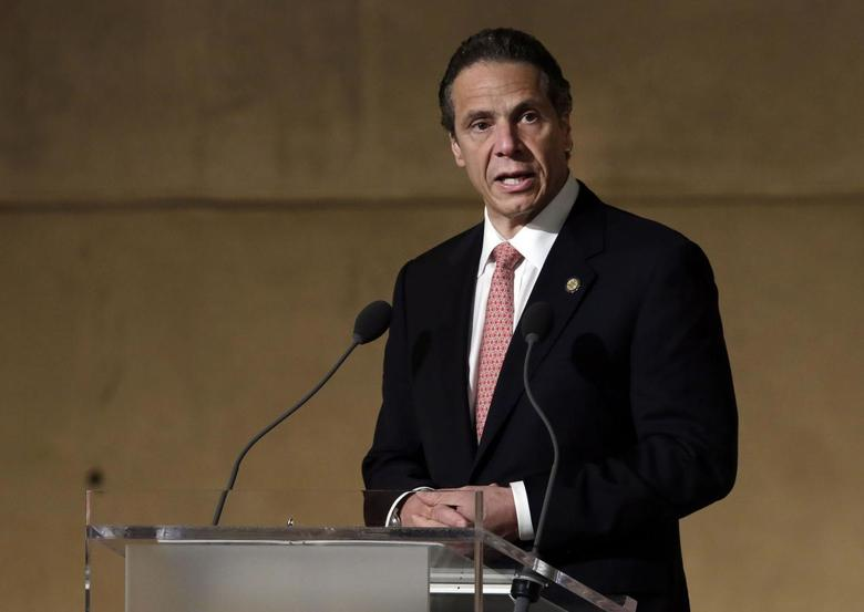 New York Governor Andrew Cuomo speaks during the dedication ceremony in Foundation Hall, of the National September 11 Memorial Museum, in New York, Thursday, May 15, 2014. REUTERS/Richard Drew/Pool