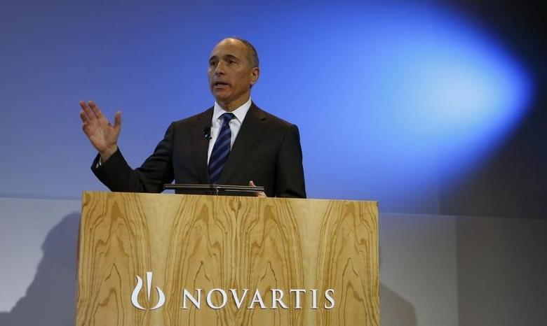 CEO Joseph Jimenez of Swiss drugmaker Novartis arrives to address the company's annual news conference in Basel January 29, 2014. REUTERS/Arnd Wiegmann