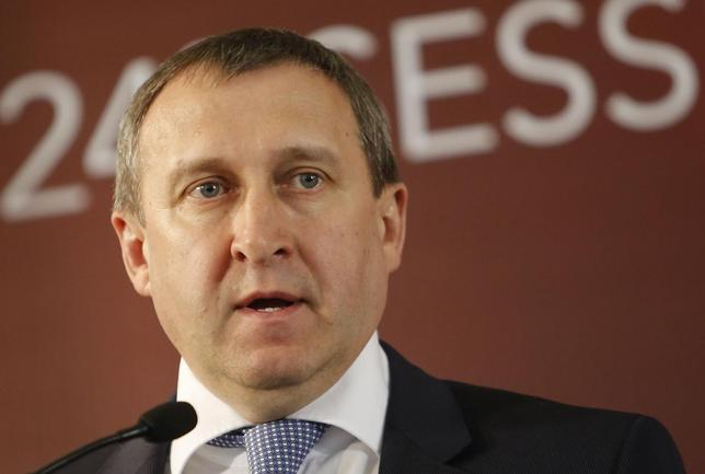 Ukrainian Foreign Minister Andriy Deshchytsia addresses a news conference after a Council of Europe meeting in Vienna May 6, 2014. REUTERS/Leonhard Foeger