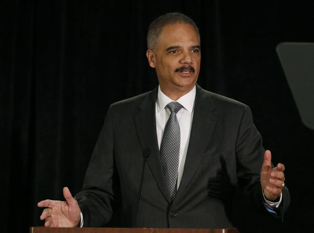 United States Attorney General Eric Holder speaks at the National Association of Attorneys General in Washington May 5, 2014. REUTERS/Gary Cameron