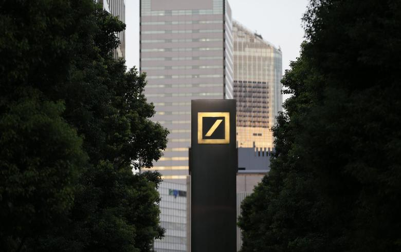 A logo of Deutsche Bank AG is seen in Tokyo September 9, 2013. REUTERS/Toru Hanai