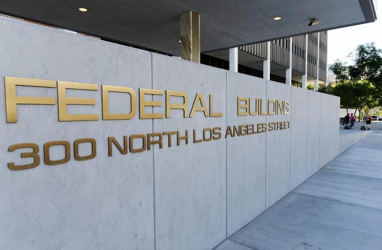 A view shows the sign for the Federal Building, where the Internal Revenue Service (IRS) offices are located, in Los Angeles, California October 1, 2013. REUTERS/Kevork Djamsezian