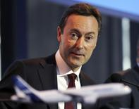 Fabrice Bregier, Airbus President and Chief Executive Officer attends the Airbus annual press conference in Colomiers, near Toulouse, January 13, 2014. REUTERS/Regis Duvignau