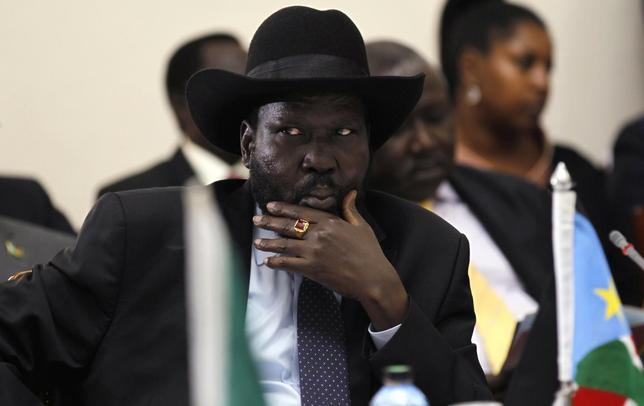 South Sudan's President Salva Kiir attends the signing of the Standard Gauge Railway agreement with China at the State House in Nairobi May 11, 2014. REUTERS/Thomas Mukoya/Pool