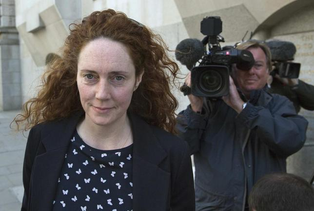Former News International chief executive Rebekah Brooks arrives at the Old Bailey courthouse in London April 16, 2014. REUTERS/Neil Hall