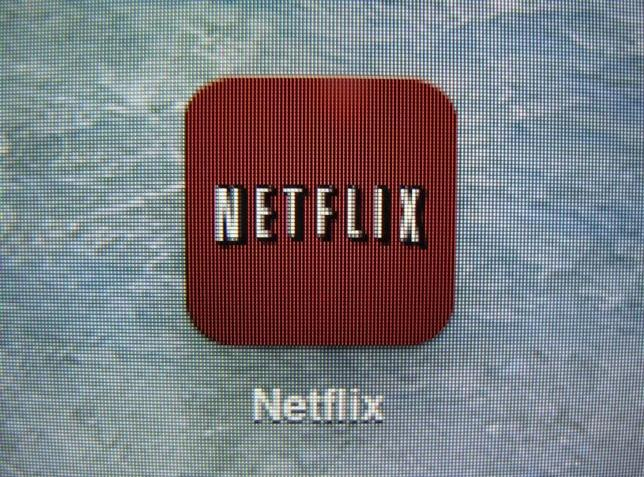 A Netflix App icon is shown on an iPad in Encinitas, California, April 19,2013. REUTERS/Mike Blake