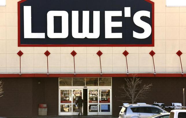 A view of the sign outside the Lowes store in Westminster, Colorado February 26, 2014. REUTERS/Rick Wilking