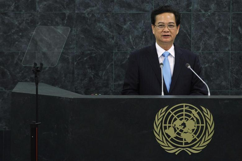 Vietnam's Prime Minister Nguyen Tan Dung addresses the 68th United Nations General Assembly at U.N. headquarters in New York, September 27, 2013. REUTERS/Eduardo Munoz