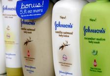 Products made by Johnson & Johnson are displayed for sale on a store shelf in Westminster, Colorado April 14, 2009. REUTERS/Rick Wilking