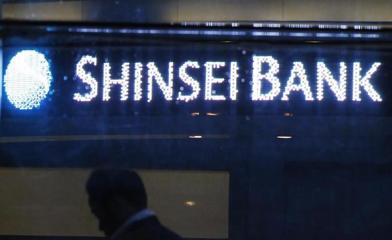 The Shinsei Bank logo is pictured at the lobby of the bank in Tokyo October 22, 2010. REUTERS/Yuriko Nakao
