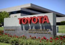 The signboard of the national headquarters of Toyota Motor Sales USA, is seen in Torrance, California April 28, 2014. REUTERS/Kevork Djansezian