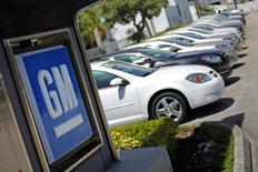 Chevrolet cars are seen at a GM dealership in Miami, Florida in this file photo taken August 12, 2010. REUTERS/Carlos Barria
