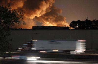 Warehouse of chemical company near Atlanta goes up in...