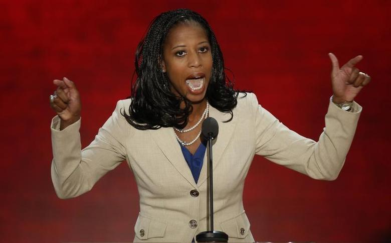Republican U.S. congressional candidate and Saratoga Springs, Utah Mayor Mia Love addresses the second session of the Republican National Convention in Tampa, Florida August 28, 2012 in this file picture. REUTERS/Mike Segar