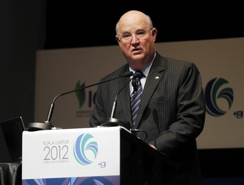 Vice Chairman and Executive Vice President for Upstream & Gas of Chevron Corporation George Kirkland speaks during the World Gas Conference 2012 in Kuala Lumpur June 6, 2012. REUTERS/Bazuki Muhammad