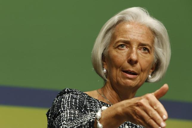 International Monetary Fund Managing Director Christine Lagarde addresses the Bretton Woods Committee annual meeting at World Bank headquarters in Washington May 21, 2014. REUTERS/Jonathan Ernst