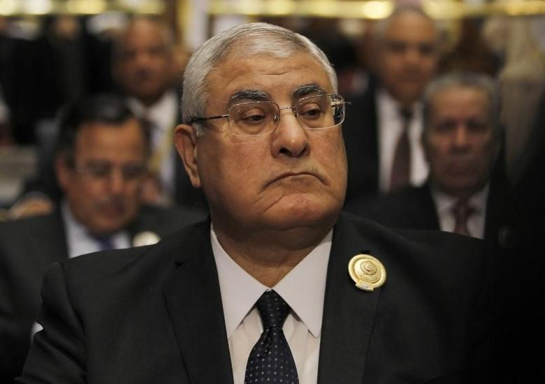 Egypt's interim president Adly Mansour attends the 25th Arab Summit in Kuwait City, March 25, 2014. REUTERS/Hamad I Mohammed