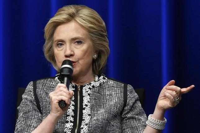 Former U.S. Secretary of State Hillary Clinton participates in an event on empowering woman and girls, at the World Bank in Washington May 14, 2014. REUTERS/Jonathan Ernst