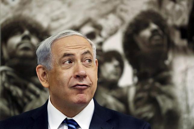 Israeli Prime Minister Benjamin Netanyahu attends a special cabinet meeting marking Jerusalem Day at Ammunition Hill in Jerusalem May 28, 2014.  REUTERS/Gali Tibbon/Pool
