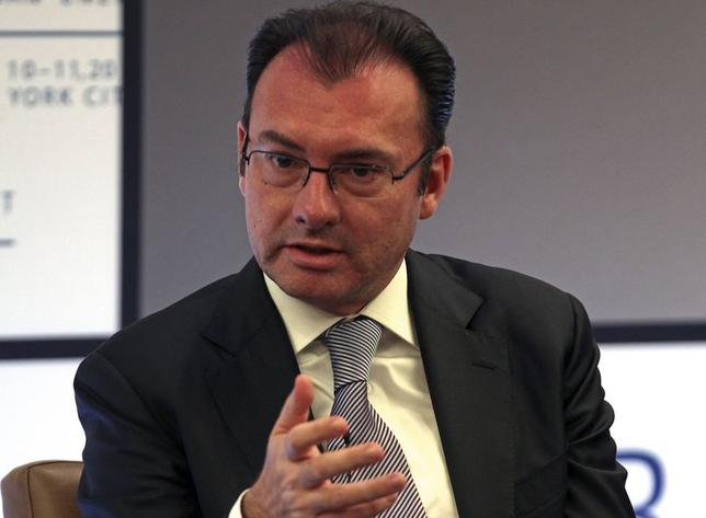 Mexico's Finance Minister Luis Videgaray speaks during a panel discussion at the North American Energy Summit in the Manhattan borough of New York, June 10, 2014.   REUTERS/Adam Hunger