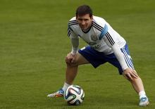 Messi durante treino da Argentina em Belo Horizonte . 12/06/2014   REUTERS/Sergio Perez