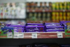 Cadbury chocolate products are is seen inside a shop in Shah Alam outside Kuala Lumpur June 11, 2014. REUTERS/Samsul Said